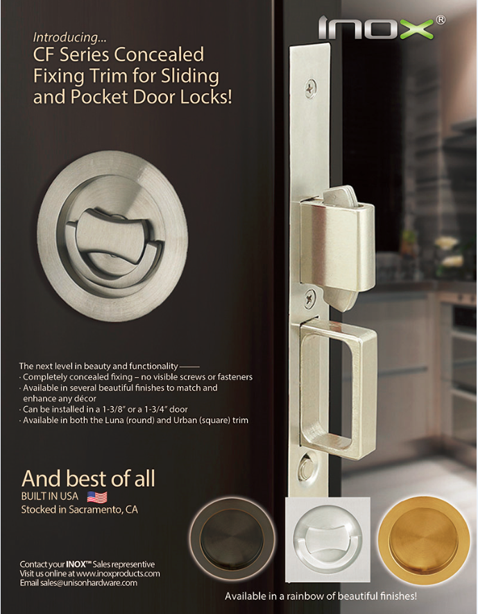 Introducing INOX CF Concealed Fixing Trim For Pocket Doors